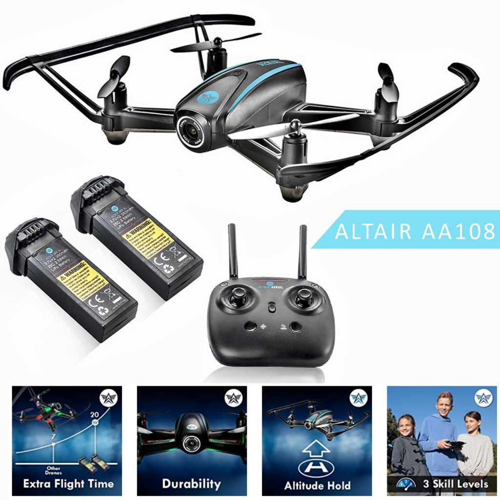 altair aerial aa108 is at #5 for best drones under 200 dollars
