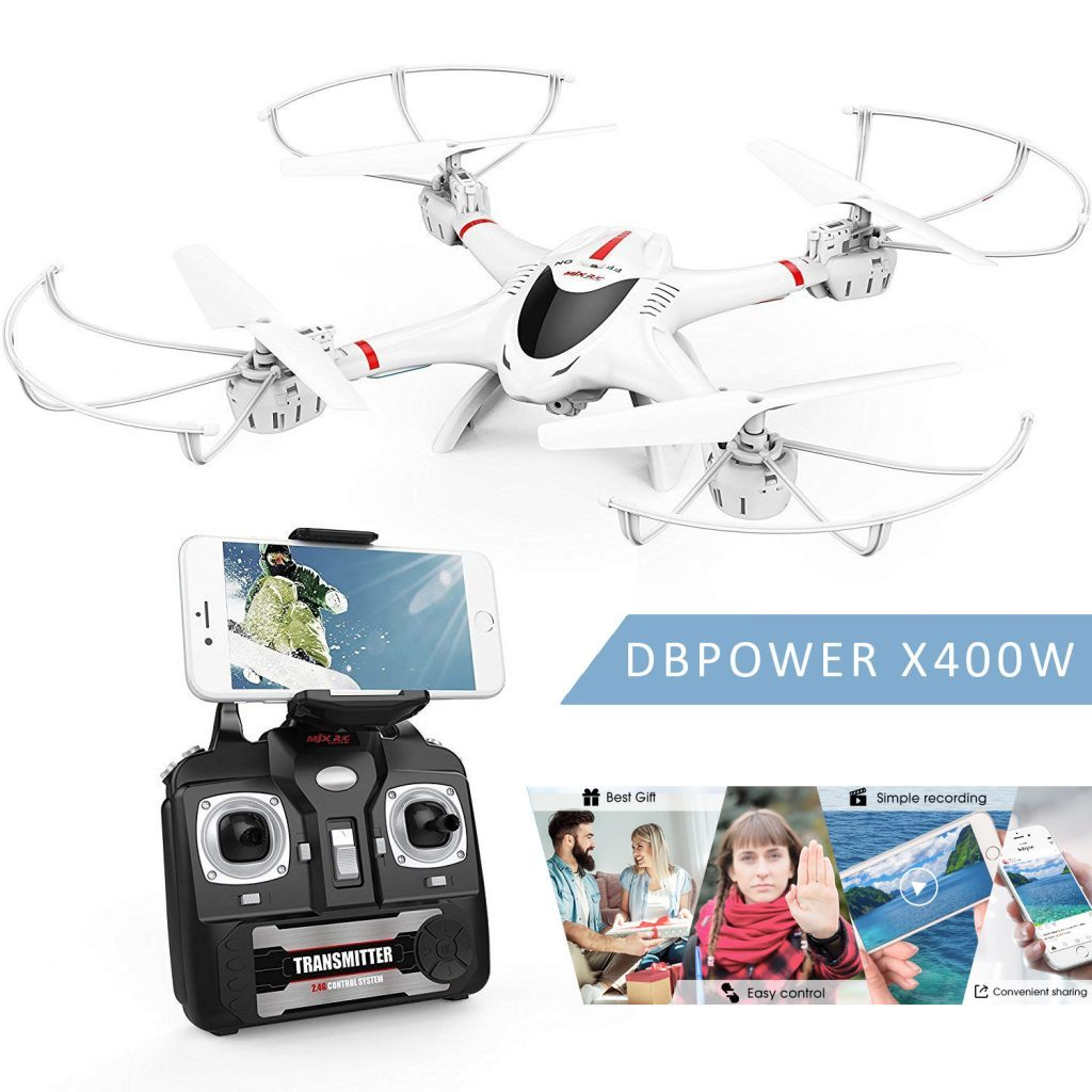 dbpower mjx x400w fpv drone is at #16 for best drones under 200 dollar