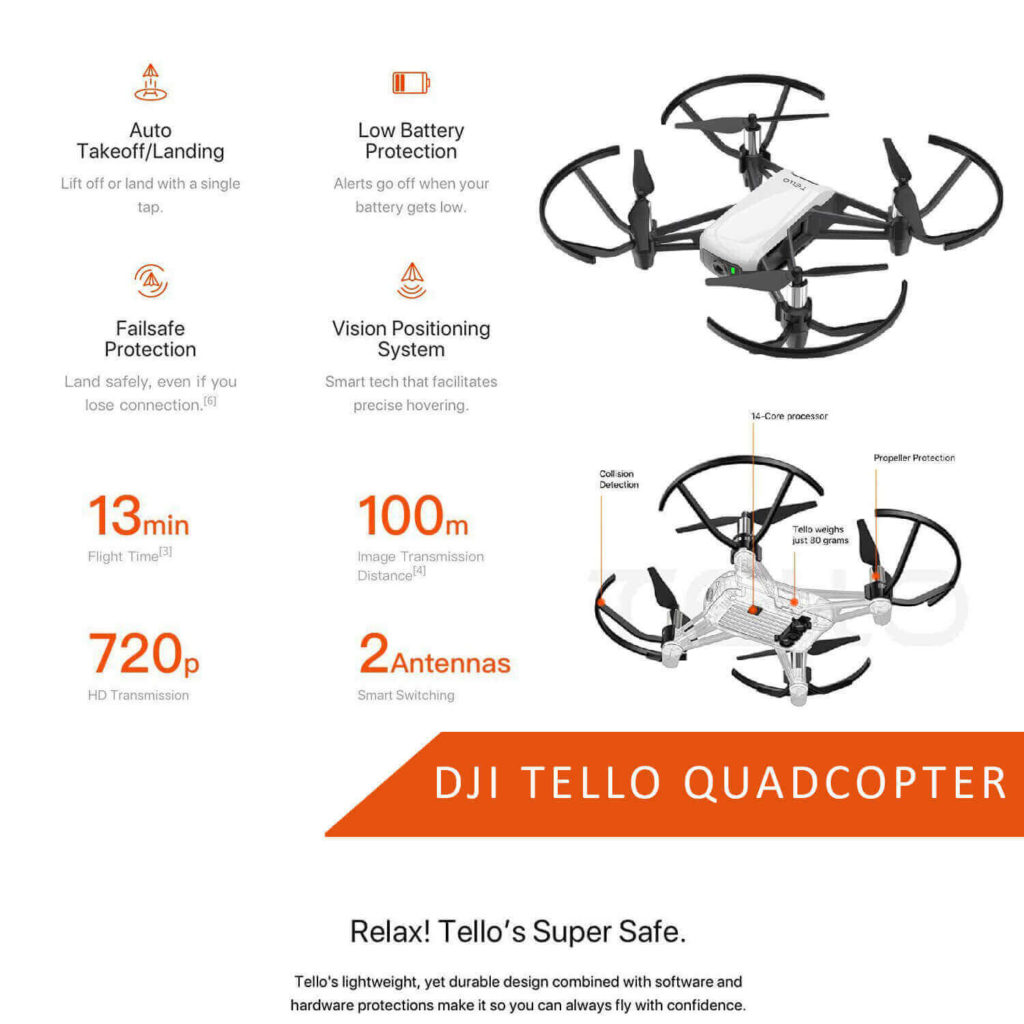 dji tello is at #6 for best drones under 200
