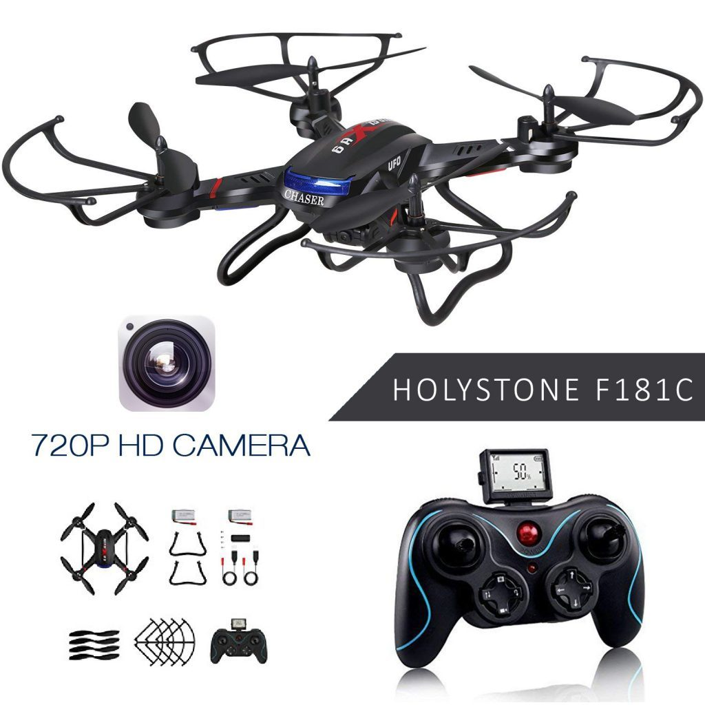 holy stone f181c rc chaser drone is at #12 for best drones under 200