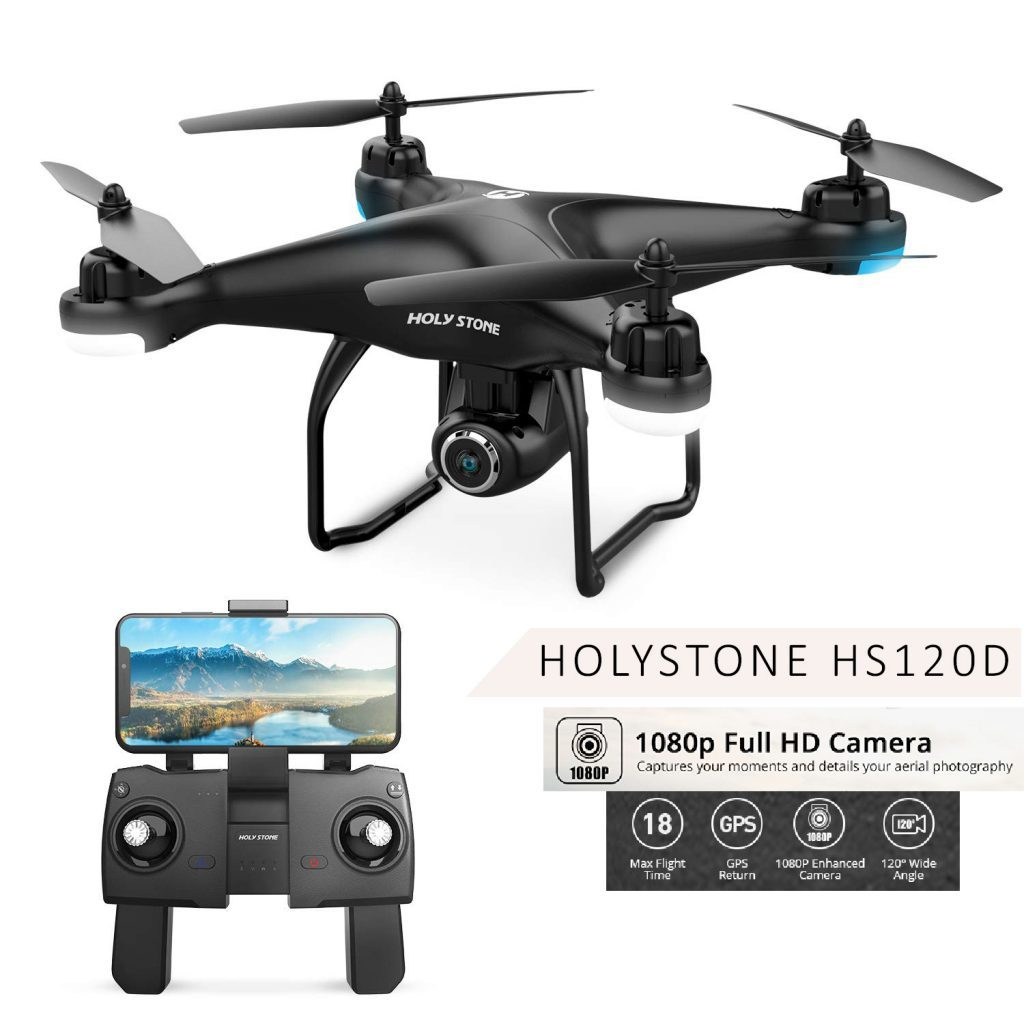 holy stone hs120d fpv drone is at #3 for best drones under 200