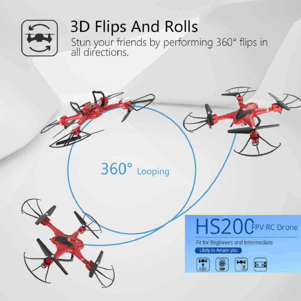 holy stone hs200 fpv rc quadcopter is at #9 for best drones under 200