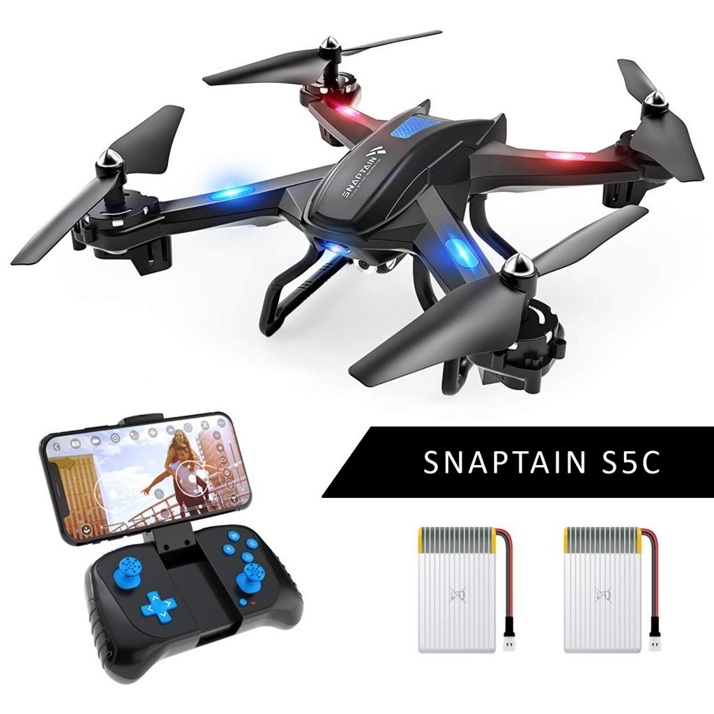 snaptain s5c wifi fpv quadcopter is at #10 for best drones under 200 dollars